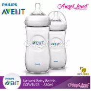 image of Philips Avent Natural Bottle 330ml Twiin Pack (Extra Soft Teat)-SCF696/23