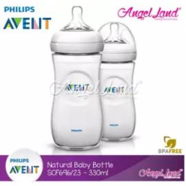 image of Philips Avent Natural Bottle 330ml Twiin Pack (Extra Soft Teat)-SCF696/23
