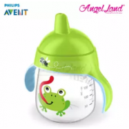 image of Philips Avent Premium Spout Cup 9oz -Mix Color SCF753/04 Green Frog