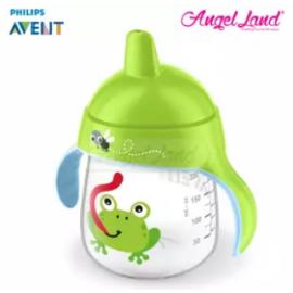 image of Philips Avent Premium Spout Cup 9oz -Mix Color SCF753/04 Green Frog
