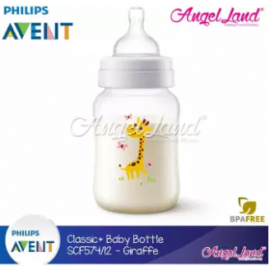 image of Philips Avent Classic+ Feeding Bottle 9oz/260ml Single Pack -Giraffe