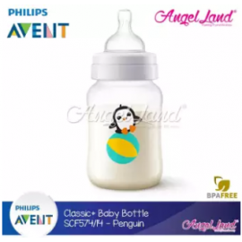 image of Philips Avent Classic+ Feeding Bottle 9oz/260ml Single Pack -Penguin