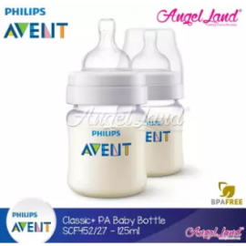 image of Philips Avent Anti-Colic Baby Bottle 125ml/4oz (Twin Pack) - SCF452/27