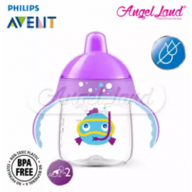 image of Philips Avent Premium Spout Cup 9oz -Mix Color SCF753/02 Purple Fisher