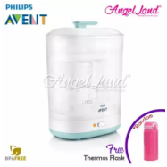 image of Philips Avent 2 in 1 Steriliser - SCF922/01 + FOC Thermos Flask (Random Color)