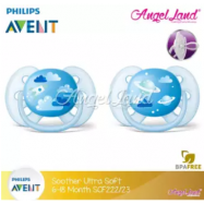 image of Philips Avent Soother UltraSoft 6-18M SCF222/23 (Twin Pack)