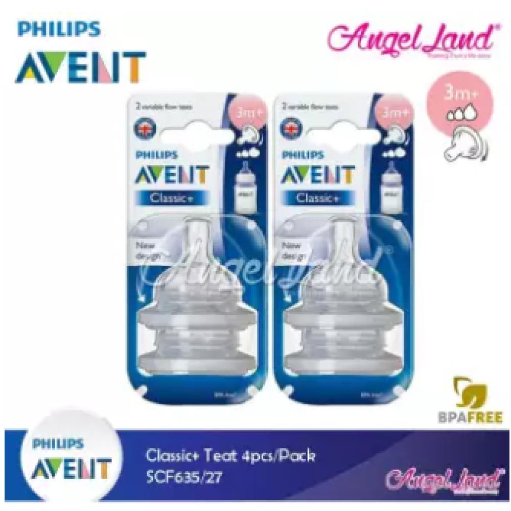 Philips Avent Classic+ Teats (4Pcs/Pack) -SCF635/27 - 3m+ (Variable)