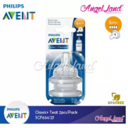 image of Philips Avent Classic+ Teats (2Pcs/Pack) - SCF634/27 - 6m+ (4h)