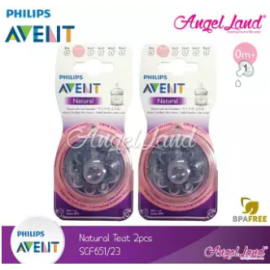 image of [Best Price For 2x] Philips Avent Natural Teat 2.0 (Extra Soft) 4pcs/2pack -SCF651/23 - 0m+ 1h