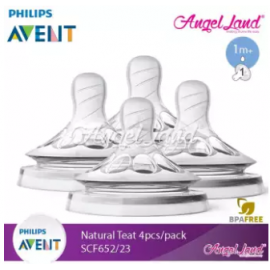 image of [Best Price For 2x] Philips Avent Natural Teat 2.0 (Extra Soft) 4pcs/2pack - SCF652/23 - 1m+ 1h