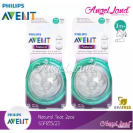 image of [Best Price For 2x] Philips Avent Natural Teat 2.0 (Extra Soft) 4pcs/2pack - SCF655/23 - 3m+ Variable Flow