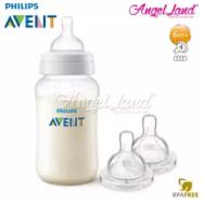 image of Philips Avent Classic Plus Anti Colic 330ml/11oz (3m+) Single Pack SCF566/17 + Philips Avent Classic+ Teat -Bottle 330ml & Teat SCF634/27