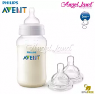 image of Philips Avent Classic Plus Anti Colic 330ml/11oz (3m+) Single Pack SCF566/17 + Philips Avent Classic+ Teat -Bottle 330ml & Teat SCF636/27