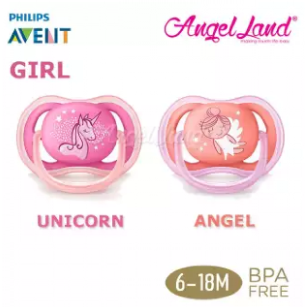 Philips Avent Berry Soother (Twin Pack) -Unicorn/Angel 6-18m - SCF345/22