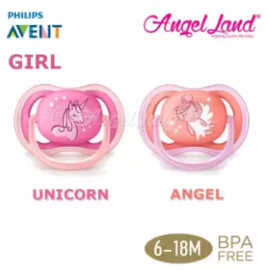 image of Philips Avent Berry Soother (Twin Pack) -Unicorn/Angel 6-18m - SCF345/22