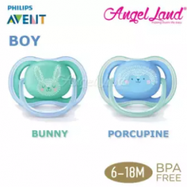 image of Philips Avent Berry Soother (Twin Pack) - Bunny/Porcupine 6-18m - SCF344/22
