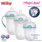 Nuby 250ml Silicone Comfort Bottle with Medium Flow (with Handle) - NB50001