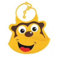 image of Nuby Silicone Baby Bibs - Monkey