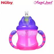 image of Nuby No-Spill Flip n' Slip Combo 8oz -92166 (Pink)
