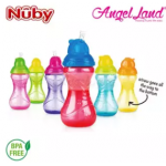 Nuby Click-it Flip-it Cup Fat Straw 12oz/360ml (12 months+) NB10112