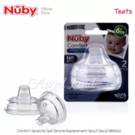 image of Nuby Comfort Silicone Bottle Replacement - Spout (6M+)