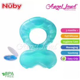 image of Nuby comfort silicone fish shaped teeth Random Color- NB53005