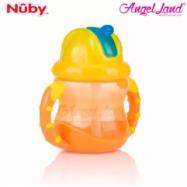 image of Nuby No-Spill Flip n' Slip Combo 8oz -NB10182 (Orange)