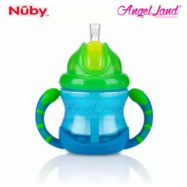 image of Nuby No-Spill Flip n' Slip Combo 8oz -NB10182 (Blue)
