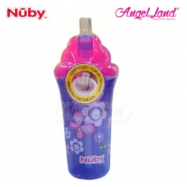image of Nuby Insulated No-Spill™ Flip-it™ Cup 12+m- Purple Butterfly 10154 PB