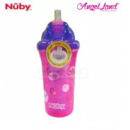 image of Nuby Insulated No-Spill™ Flip-it™ Cup 12+m- Pink Flower 10154 PF