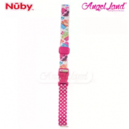 image of Nuby Keepeez Adjustable BottleCup Strap -  Pink Cup Cake 10374PCC
