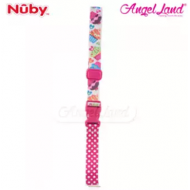 image of Nuby Keepeez Adjustable BottleCup Strap -  Pink Cup Cake 10374PCC