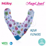 Nuby Teething Bib - NB4290 Aqua Flowers