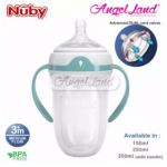 [COMBO SET] Nuby 250ml Silicone Comfort Bottle with Medium Flow (with Handle) - NB50001 + Replacement Nipple Medium Flow (NB50505)
