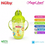 Nuby Comfort Printed Cup With Handles & Weighted Straw (9oz/270ml) NB52002 -Green Giraffe
