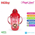 Nuby Comfort Printed Cup With Handles & Weighted Straw (9oz/270ml) NB52002 - Red Monkey