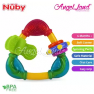 image of Nuby Triangle Teether With TPE (1 pcs)-NB664