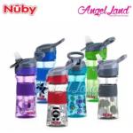 Nuby Flip-it Reflex Tritan Sports Bottle Silicone Band 12oz/360ml (18m+) NB1297 -Green Circle Drop