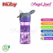 image of Nuby Flip-it Reflex Tritan Sports Bottle Silicone Band 12oz/360ml (18m+) NB1297 - Purple Owl