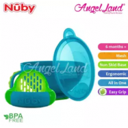 image of Nuby Garden Fresh Mash N Feed Bowl with Lid Spoon and Food Masher (6m+) NB5435