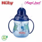 Nuby Designer 2 handle Trainer Cup with Weighted Straw 8oz/240ml (12m+) NB10324 - Blue