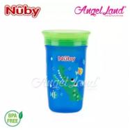 image of Nuby 360 Wonder Cup 10oz/300ml (12m+) NB10411 - Blue Alligator