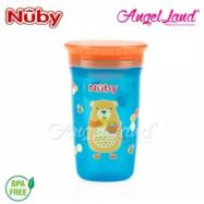 image of Nuby 360 Wonder Cup 10oz/300ml (12m+) NB10411 - Blue Bear