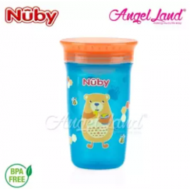 image of Nuby 360 Wonder Cup 10oz/300ml (12m+) NB10411 - Blue Bear