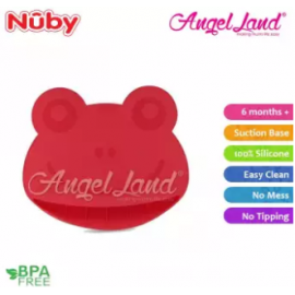 image of Nuby Suregrip Placemat Frog Design 1pc (6m+) NB92910 - Red