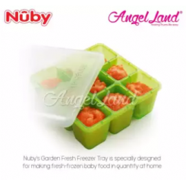 image of Nuby Garden Fresh Fresh Food Freezer Tray (4m+) NB5434 - Green