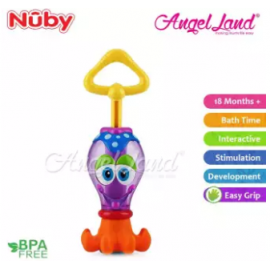 image of Nuby Squid Squitter Bath Time Toy (18m+) NB6146