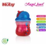 Nuby Flip N'Sip Cup Fat Straw 240ml (12 months+) NB92166 - Red/Blue
