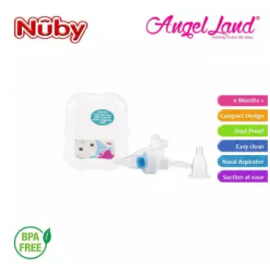 image of Nuby Breath-eez Nasal Aspirator PP Cover & Hygienic Travel Case + 4 filters NB781