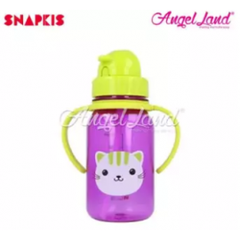 image of Snapkis My First Straw Water Bottle 350ml - Cat - SKS11053